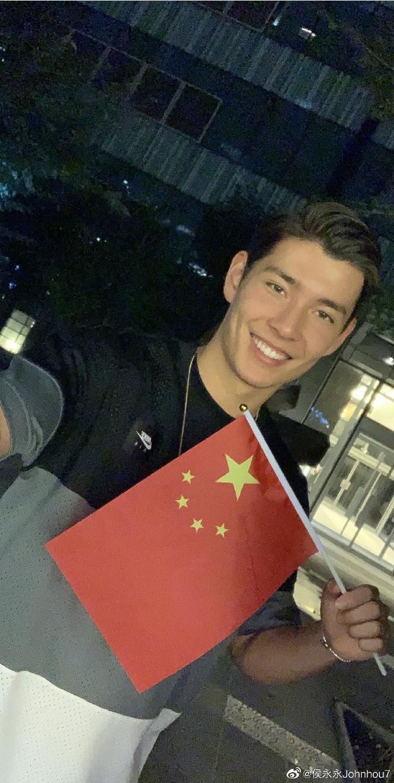 侯永永:很愉快在这里渡过第一个国庆节,我爱中国