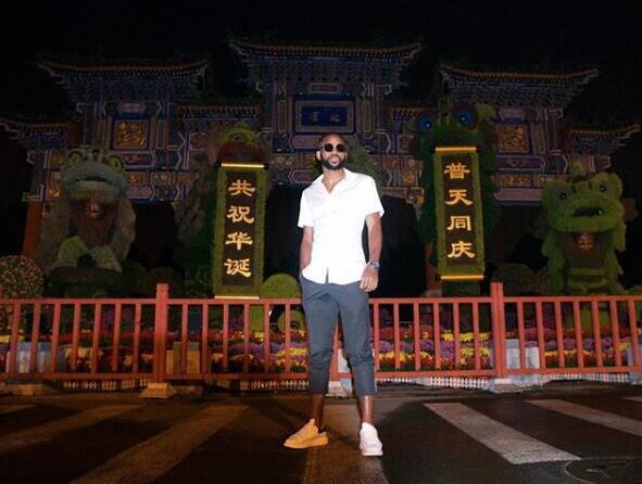 一图流:国安外援巴坎布夜游北京地坛公园