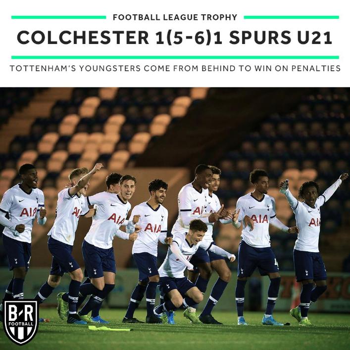 为大哥报仇!热刺U21赢了一线队没赢的科尔切斯特联