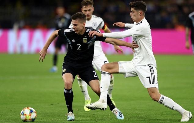 友谊赛:格纳布里阿拉里奥分别传射,德国2-2阿根廷