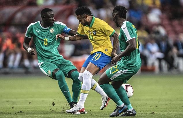 友谊赛:菲米破门马内造点+中柱,巴西1-1塞内加尔