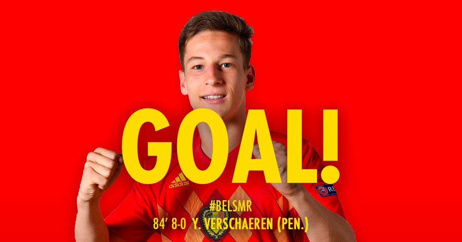 GIF:18岁小将维斯查主罚点球命中,比利时扩大比分