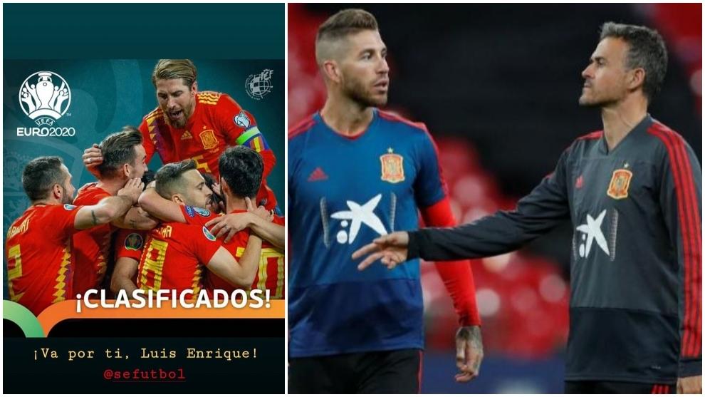 西班牙晋级2020欧洲杯,拉莫斯致敬恩里克:这是献给你的