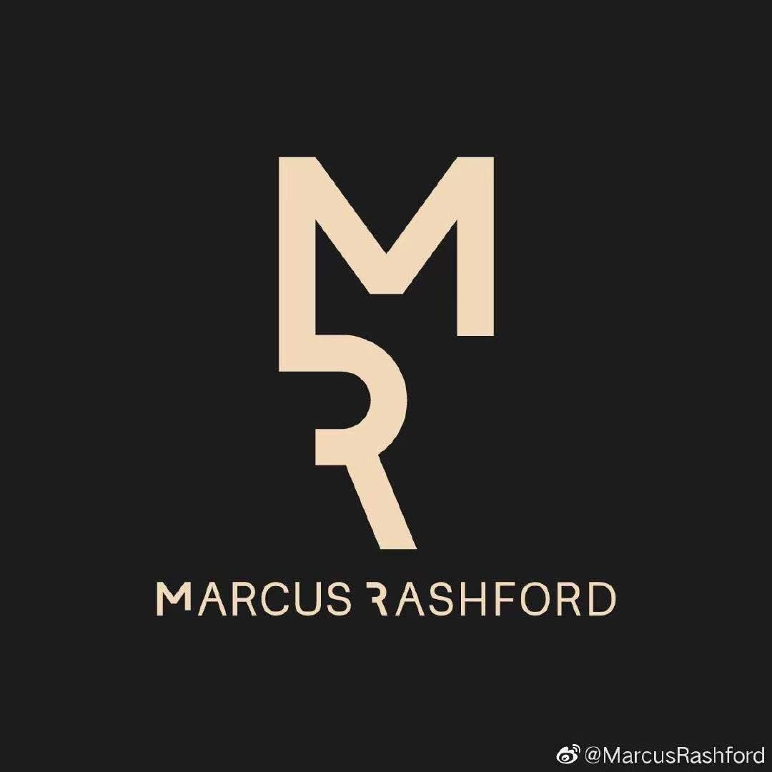 新风度!拉什福德重新打造个人Logo,黑金搭配吸睛