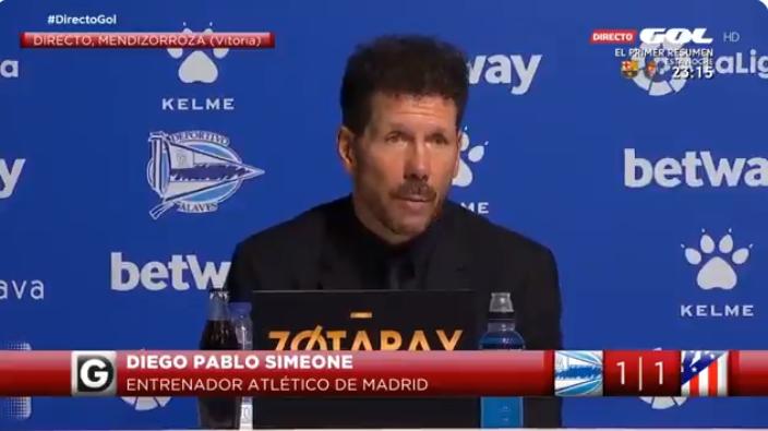 西蒙尼:如果球队开场不兴奋,那就是我这个教练的问题