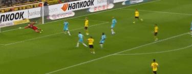 GIF:阿什拉夫助攻小阿扎尔破门,多特1-0狼堡