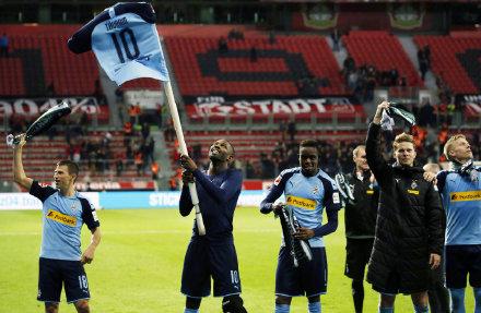 门兴连续四轮德甲位居榜首,上一次是43年前的夺冠赛季