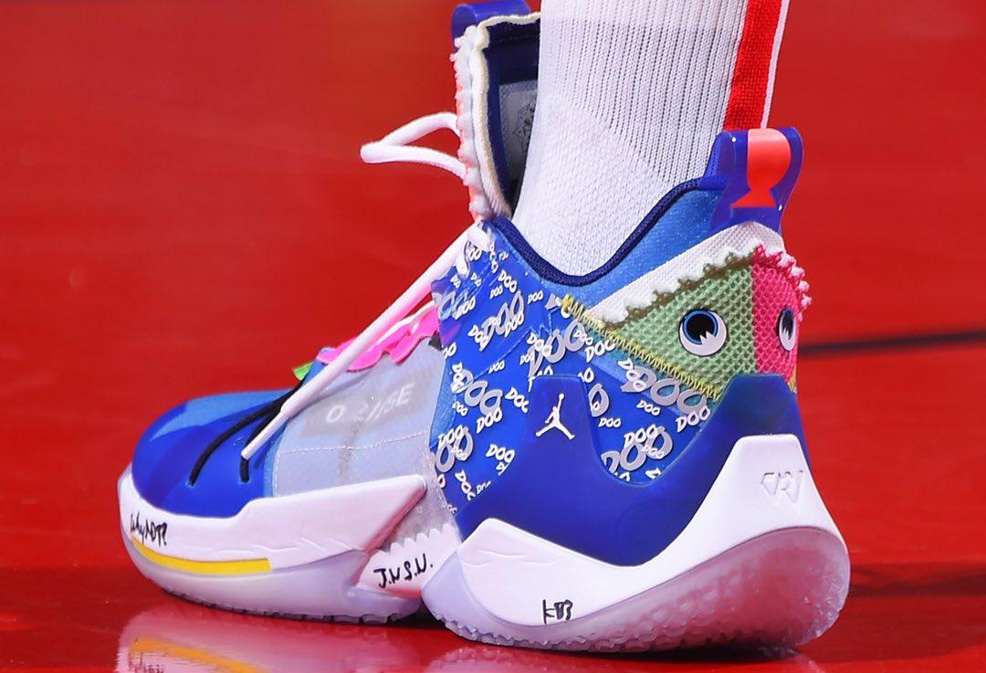 今日球鞋:戴德蒙上脚AJ 10,字母哥上脚Nike Freak 1