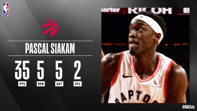 NBA官方评选今日最佳数据:西亚卡姆35+5+5当选