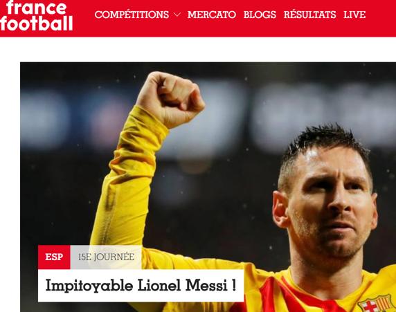 法国足球评<a href=http://bf.310bf.net target=_blank class=infotextkey>梅西</a>:一个莫得感情的杀手