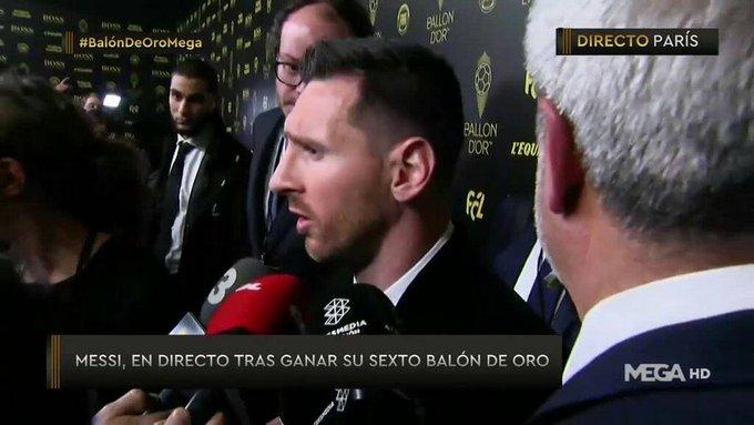 梅西:C罗没出席颁奖是因为来不了,姆巴佩未来能拿金球