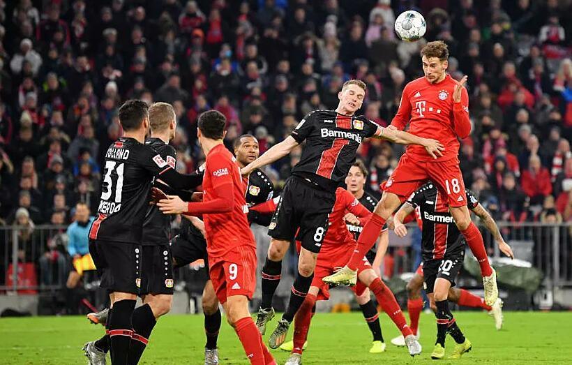 拜仁本赛季11次击中门框,排名德甲第一