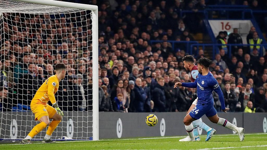 GIF:撞射破门,特雷泽盖进球,阿斯顿维拉1-1切尔西
