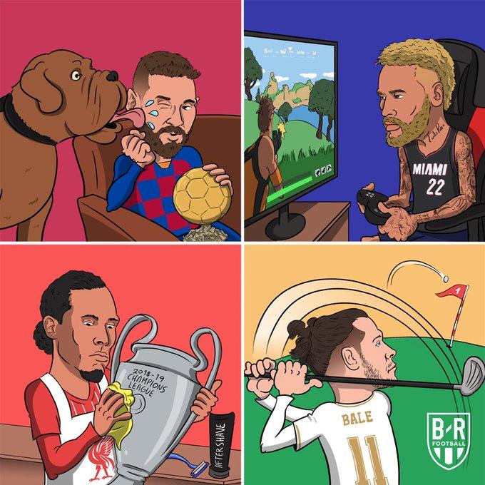 B/R海报:没有欧冠比赛的时候,球星们都在干嘛?