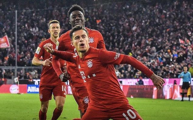 库蒂尼奥3射2传莱万双响,拜仁6-1逆转不莱梅
