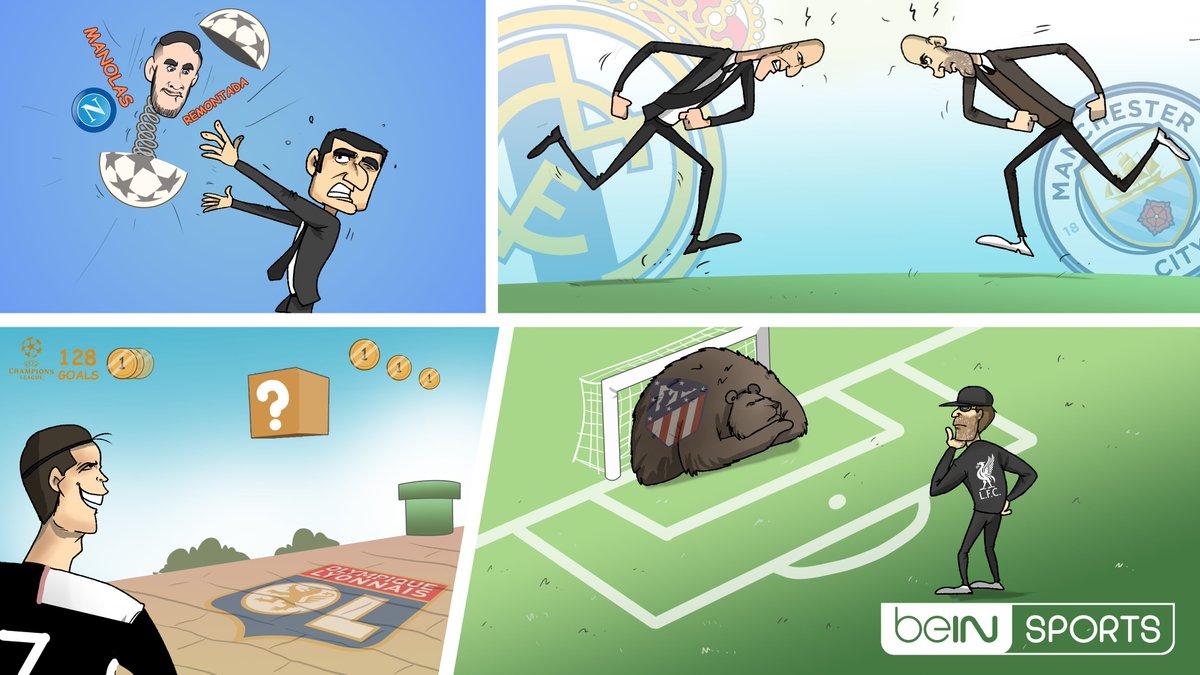 漫画调侃欧冠淘汰赛:巴萨马诺拉斯重逢,利物浦遭遇门墙