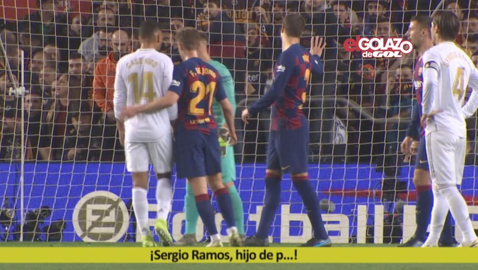 尊重对手,拉莫斯遭球迷辱骂,皮克示意球迷保持安静