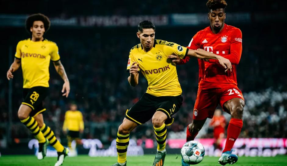 德甲上半程最高时速排名:阿什拉夫为近8年来最快的球员