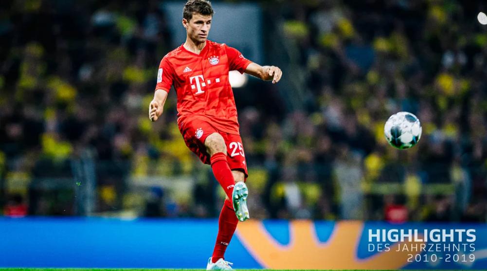 德甲10年助攻最多的球员:穆勒140次遥遥领先