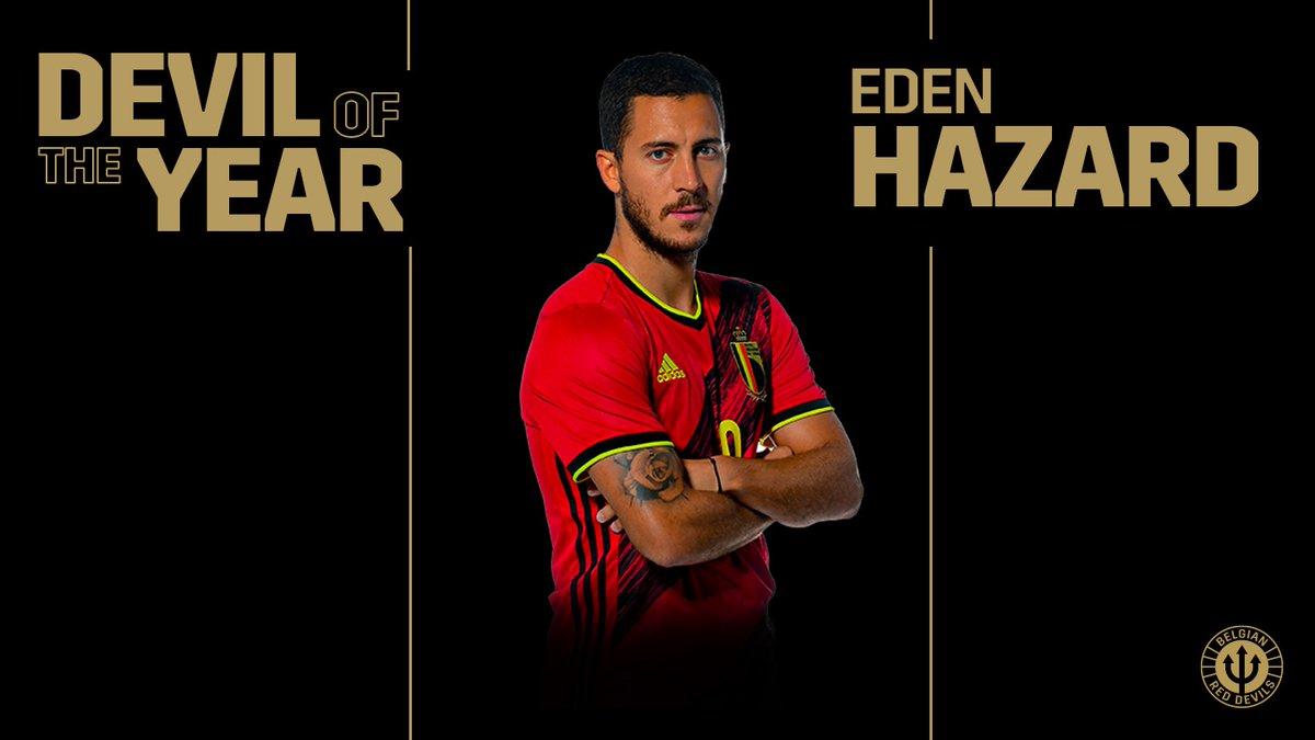 队长风范!阿扎尔当选比利时国家队2019年最佳球员