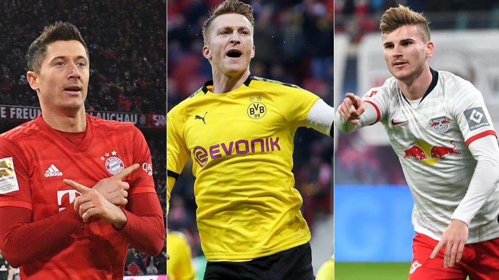 德甲2019年射手盘点:莱万全年31球遥遥领先