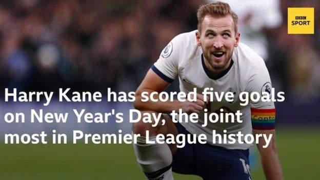 新年好!凯恩在元旦进了5球,英超历史并列最多