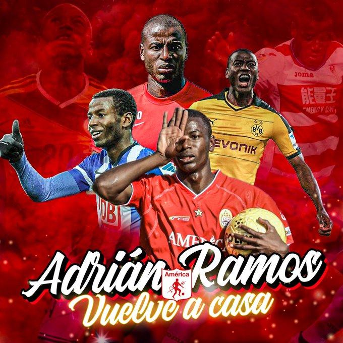 官方:前多特前锋、哥伦比亚前国脚拉莫斯回归卡利美洲