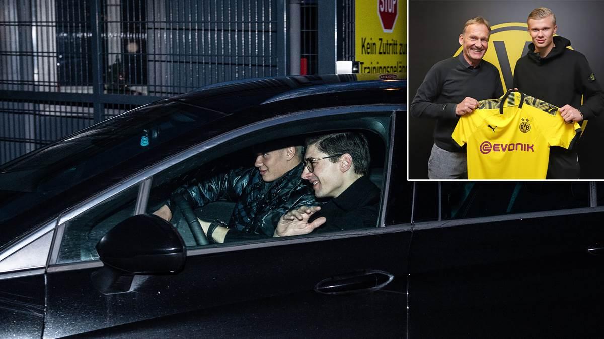 德媒:父亲追随哈兰德一首前去众特总部报道,准备冬训