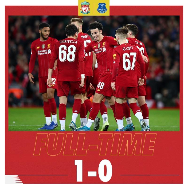 一边倒!利物浦对埃弗顿的德比已21场不败