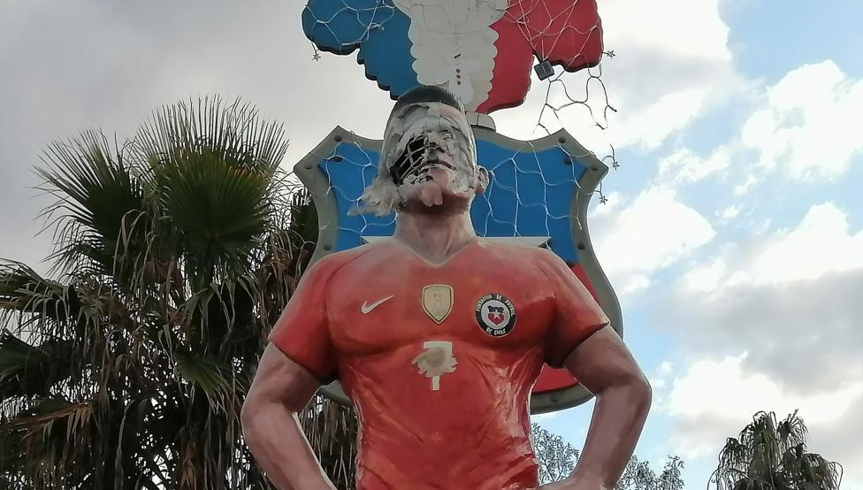 桑切斯在家乡的雕像遭人破坏,警方正在追查肇事者