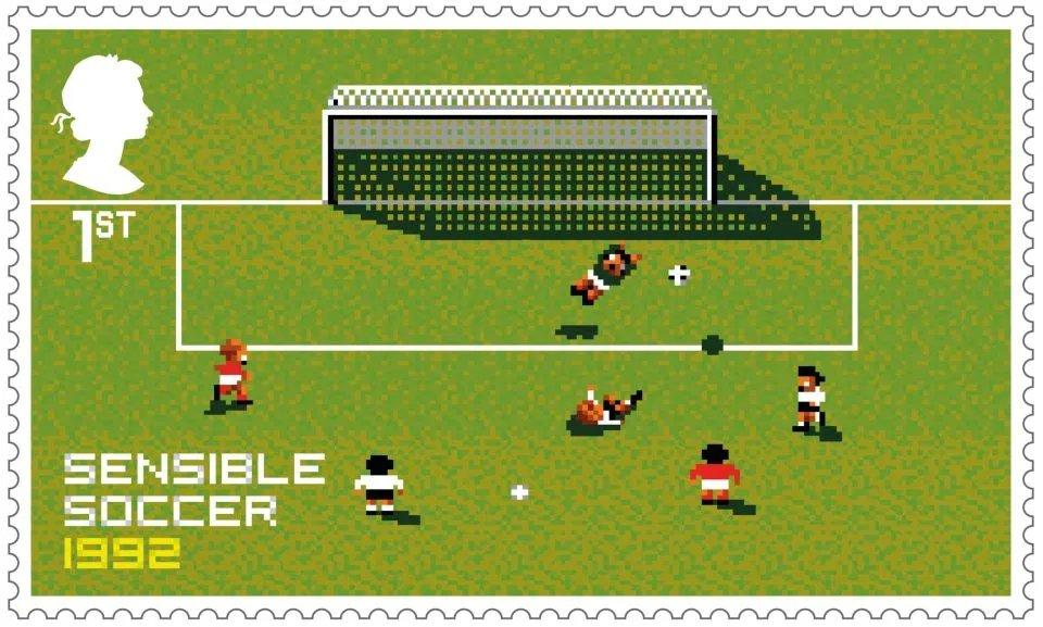 玩过吗?祝贺初代足球游玩,英国皇家邮政推出专属邮票