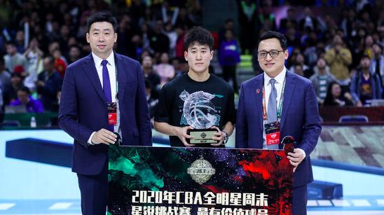 吉林后卫姜伟泽获得全明星星锐赛MVP