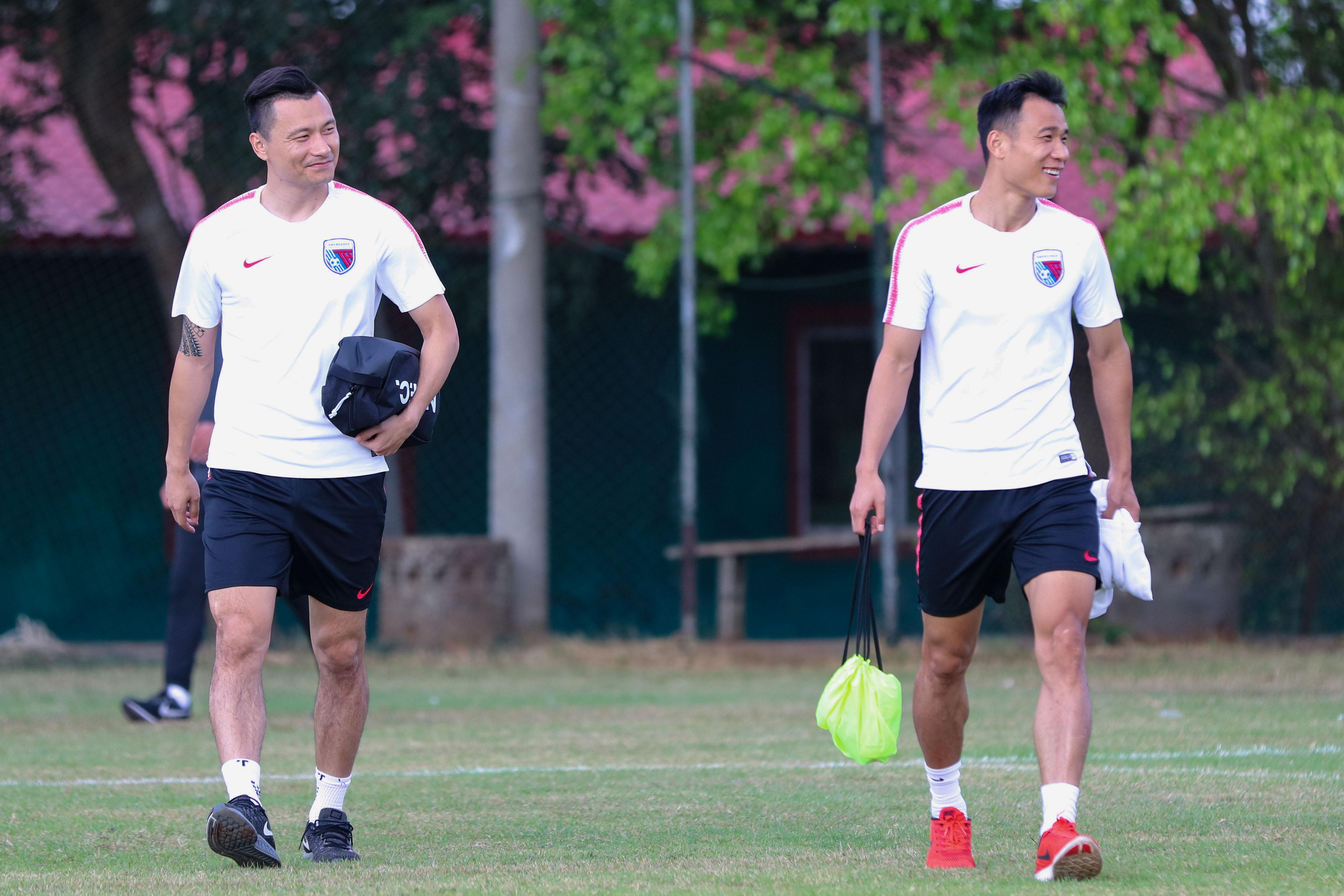多图流:郜林参与天海合练,张成林留队未受传闻影响