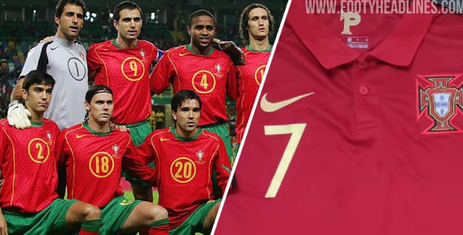 重回2004!葡萄牙今年的欧洲杯球衣将会使用绿色短裤