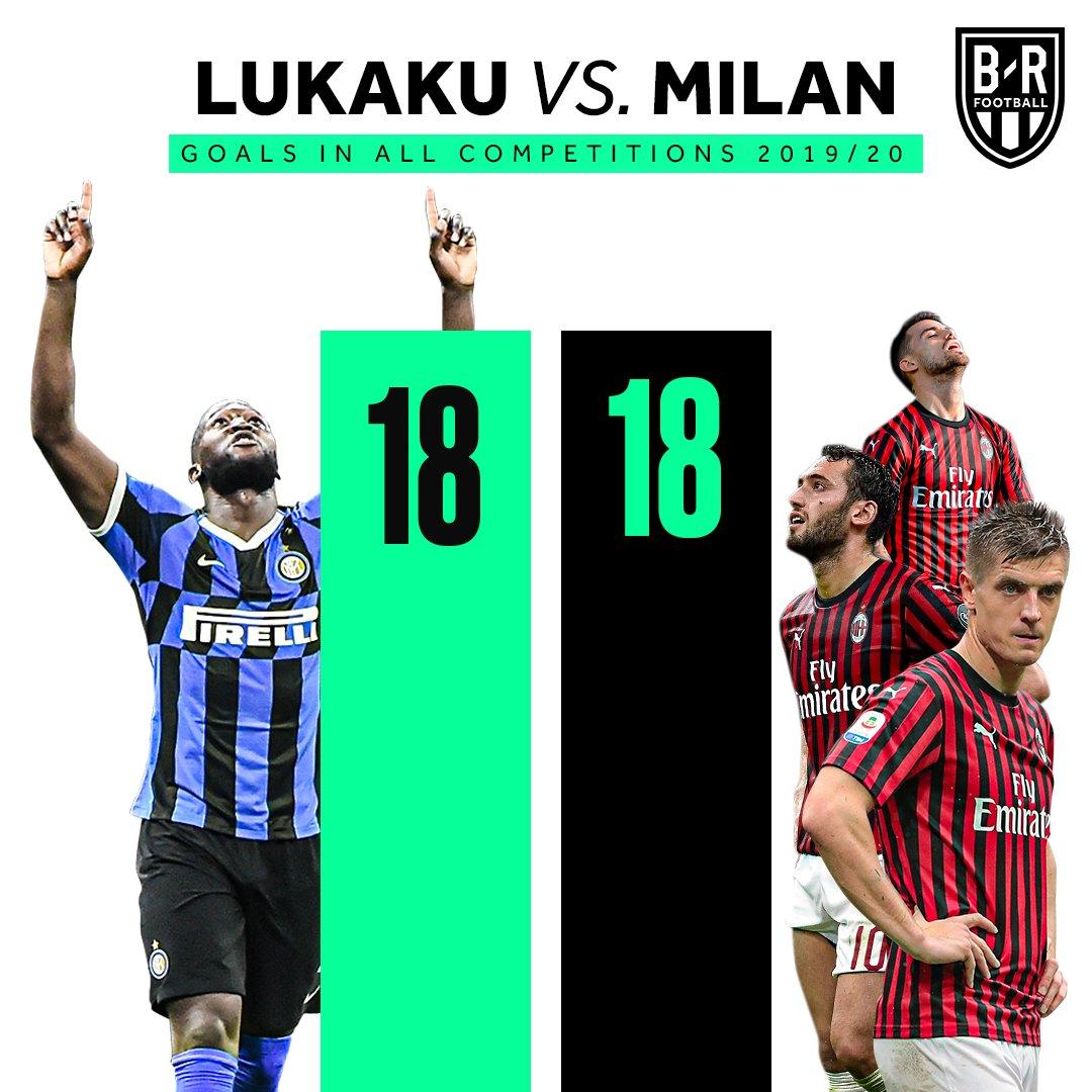 扎心了,卢卡库本赛季各项赛事进18球,等于米兰全队总和