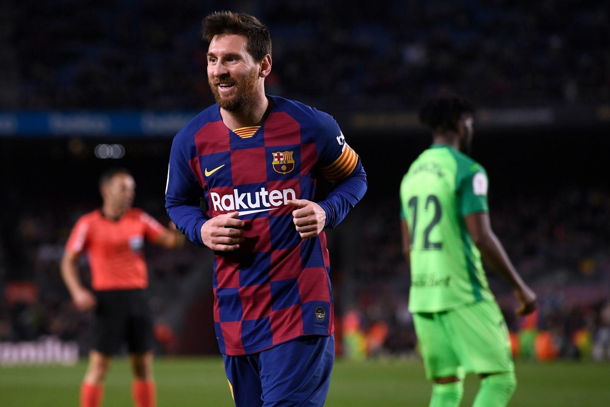 GIF:梅西单刀推射破门梅开二度,巴塞罗那扩大比分