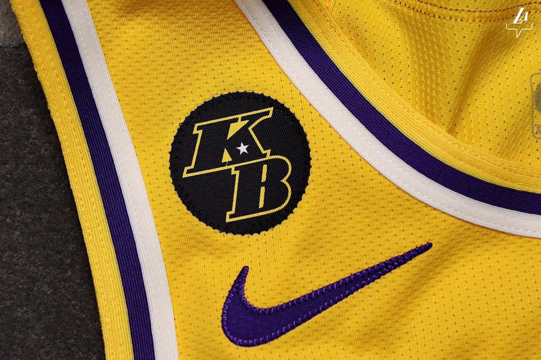 悼念科比!湖人官方发布球队今日比赛球衣照