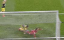 GIF:裁判经VAR判定,菲尔米诺倒地不是点球犯规