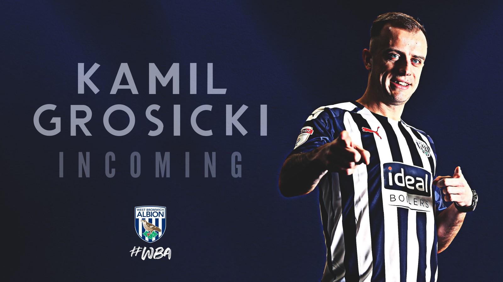 官方:波兰国脚边锋格罗西茨基加盟西布朗,签约一年半