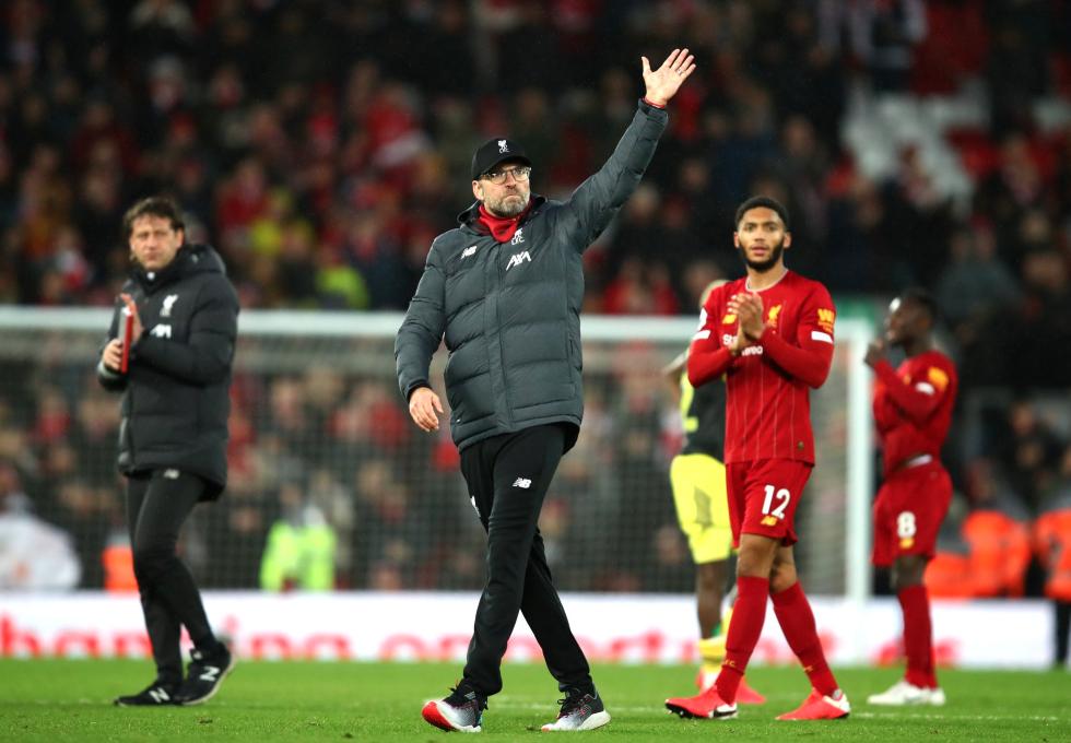 天堑!利物浦领先曼城22分,为英国顶级联赛榜首最大分差
