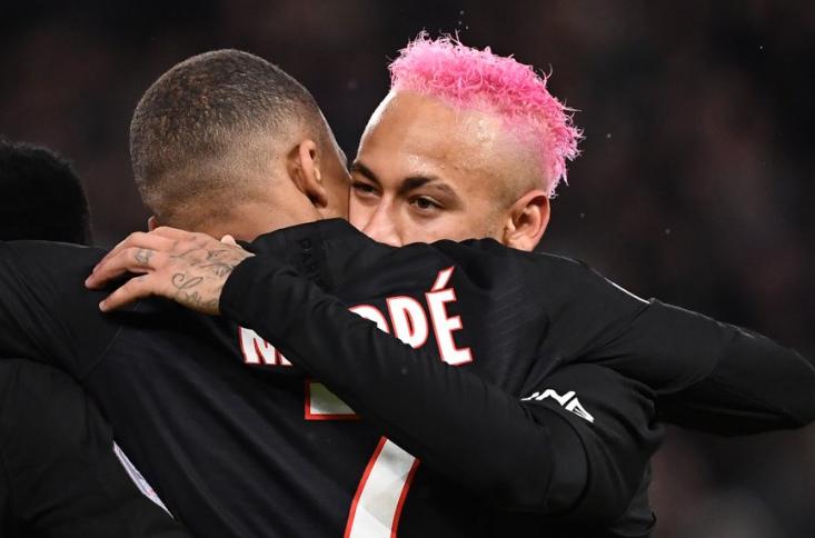 真哥俩好!内马尔本赛季在法甲的6次助攻都献给了姆巴佩