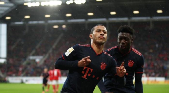 精彩进球!蒂亚戈当选拜仁全场最佳