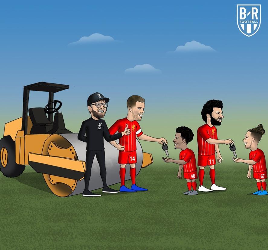 B/R漫画:利物浦将胜利之钥交到小将琼斯、埃利奥特手中