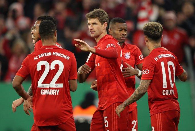 GIF:穆勒推射破门,拜仁慕尼黑反超比分