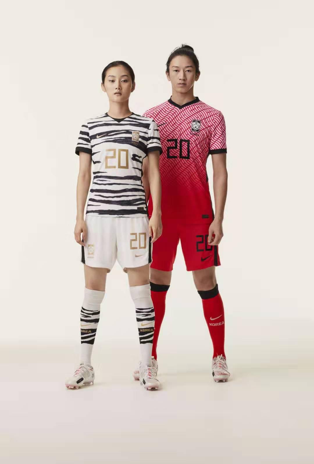 耐克发布韩国队新版球衣:主场球衣增加白色斜网格设计