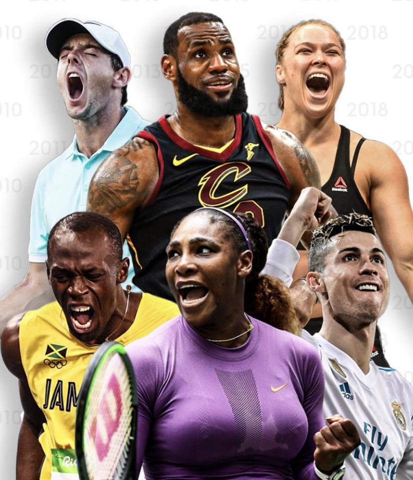 Sky评近十年20大运动员:C罗第三,梅西第四,詹姆斯第九