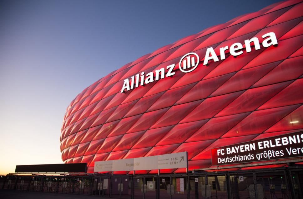 踢球者:慕尼黑安联球场每年冠名费用为600万欧