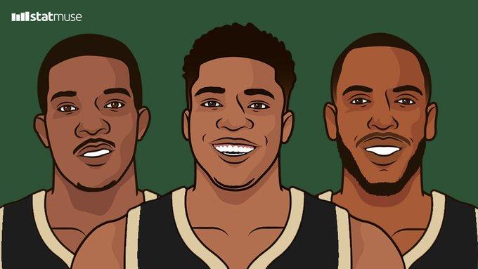 雄鹿连续75场单场得分破百,平NBA历史纪录