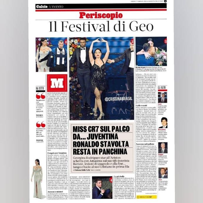 颇具影响力!各家媒体纷纷报道乔治娜出席圣莫雷音乐节