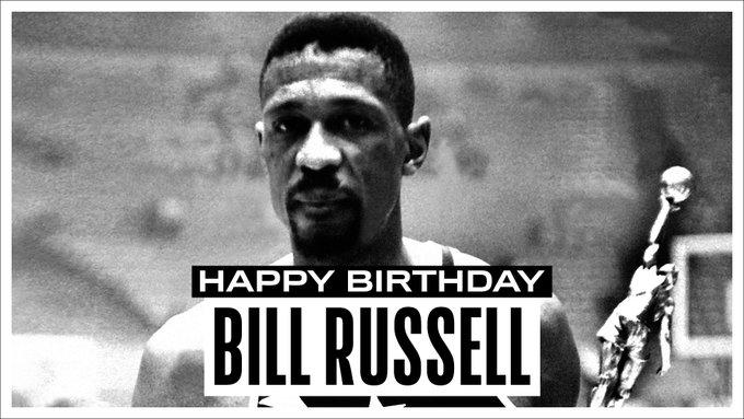 NBA官方推特晒照祝名宿比尔-拉塞尔86岁生日快乐